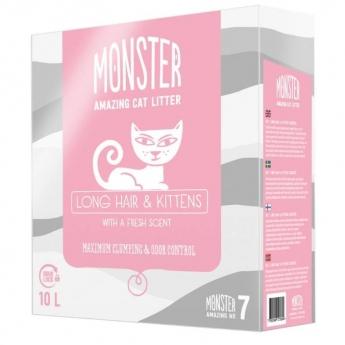 Monster Kattsand Long Hair & Kittens 10 liter
