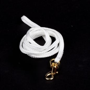 Show Dog Show Lead med guldfärgat lås, vit (5 mm)