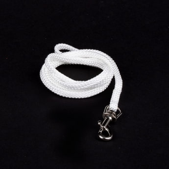 Show Dog Show Lead med silverfärgat lås 90 cm (5 mm)