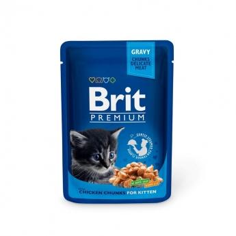 Brit Premium Portionspåsar Med Kycklingbitar För Kattungar