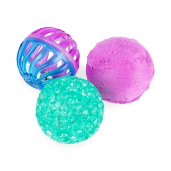 Little&Bigger Pure Purr Bollar 3-pack Färgglada