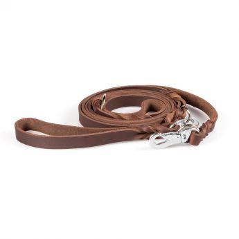 Feel Leather Braid Läderkoppel Multi Brun