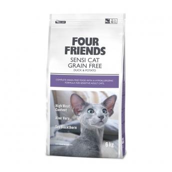 FourFriends Cat Sensi Cat Grain Free Duck & Potato (6 kg)