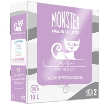 Monster Kattsand Lavender 10 liter