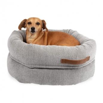 Basic WellB Ortopedisk Hundbädd Donut Grå