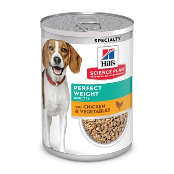 Hill's Science Plan Dog Adult  Perfect Weight Chicken & Vegetables 363 g