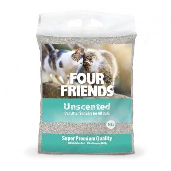 FourFriends Oparfymerad Kattsand 14 kg
