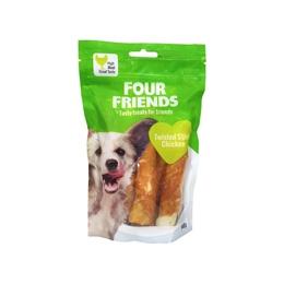 FourFriends Dog Twisted Stick Chicken 12,5 cm 4-pack