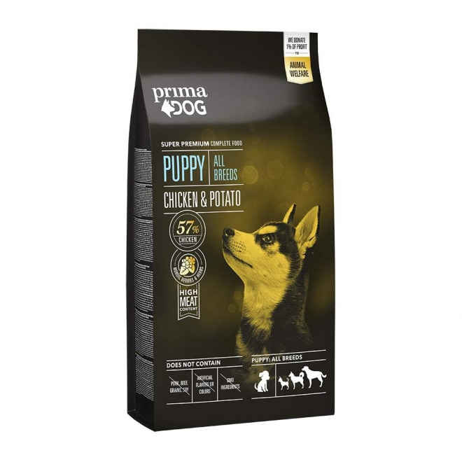 PrimaDog Puppy All Breed Chicken & Potato 10 kg