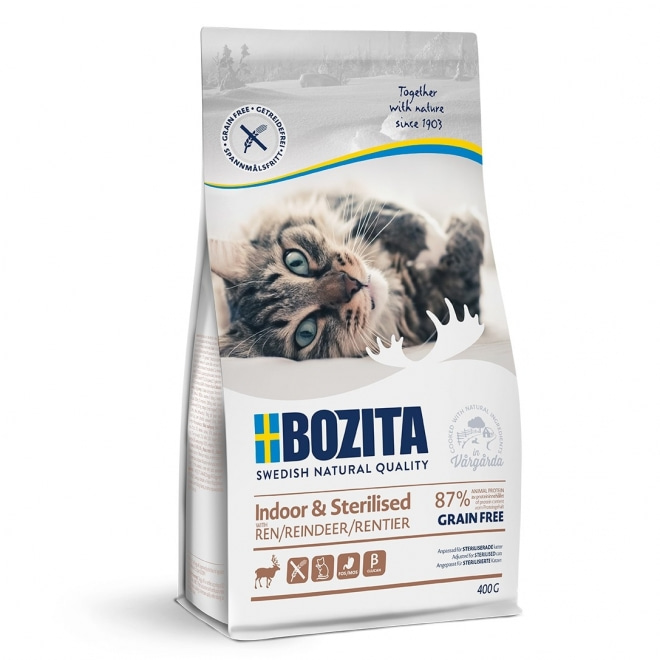 Bozita Indoor & Sterilised Grain free Reindeer (400 g)