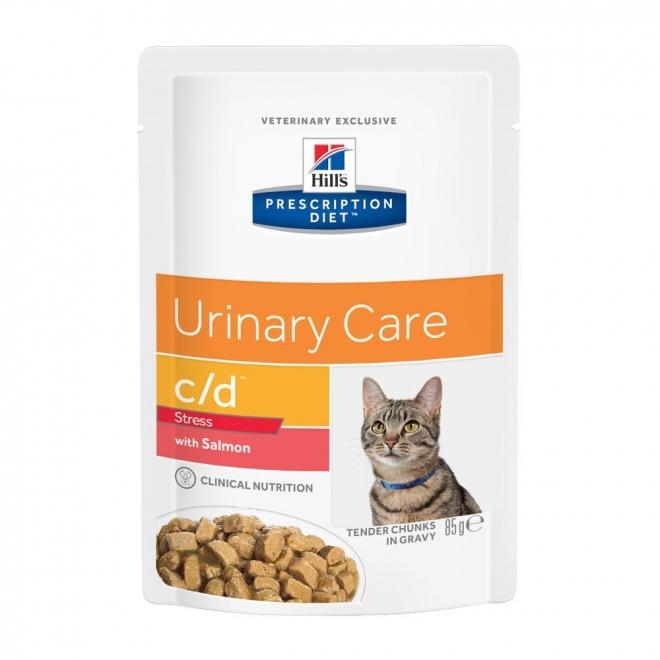 Hill's Prescription Diet Feline c/d Urinary Care Stress Salmon 12x85 g
