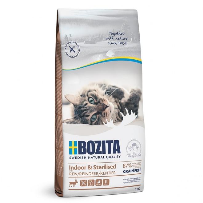 Bozita Indoor & Sterilised Grain free Reindeer (2 kg)