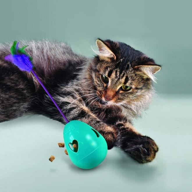 KONG Cat Tippin Treat Aktiveringsleksak Turkos