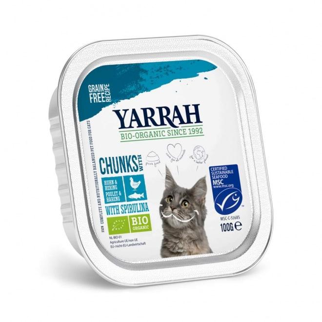 Yarrah Organic Cat Fish Chunks Grain Free 100 g