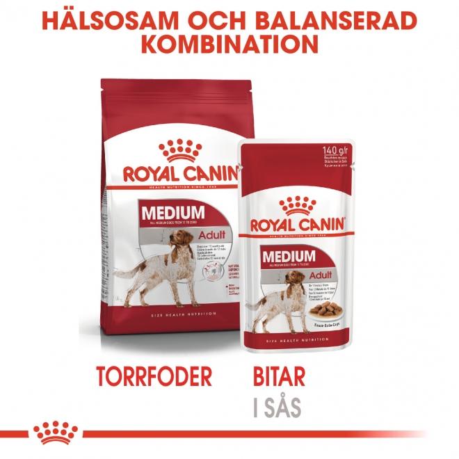 Royal Canin Medium Adult Våtfoder (10x140g)
