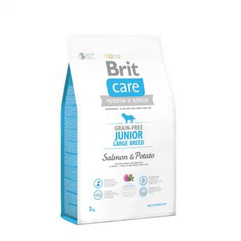Brit Care Grain-Free Junior Large Breed Salmon & Potato (3 kg)