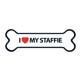 Magnet&Steel Magnet I Love My Staffie (15 cm)