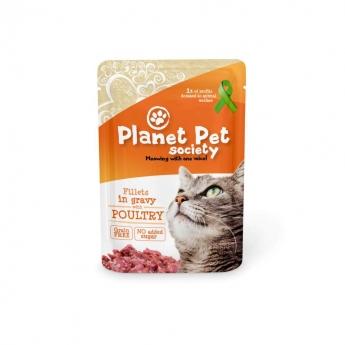 Planet Pet Society siipikarjaa kastikkeessa 85 g