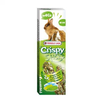 """Versele-Laga Crispy Mega Sticks Rabbits-Guinea Pigs """"Green Meadow"" (2x140 g)"
