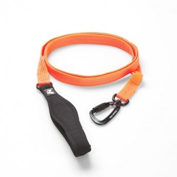 Feel Active Nylon talutin neopreeni kädensjalla, carabiner-haka oranssi
