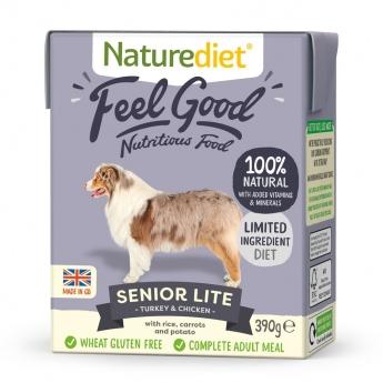 Naturediet Feel Good Senior Lite kalkkuna & kana (390 g)