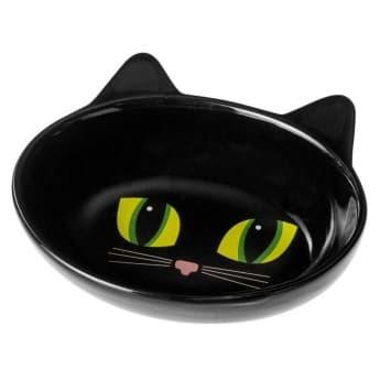 Petrageous Frisky Cat Oval kuppi valkoinen (Musta)