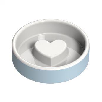 Happy Pet Project Slow Feed ruokakuppi sydän sininen (Keraaminen)