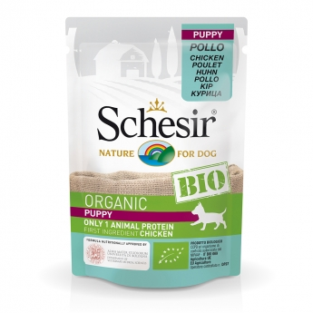 Schesir Bio Dog Puppy Chicken (85 g)