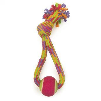 Little & Bigger Crinkle Rope köysilenkki pallolla