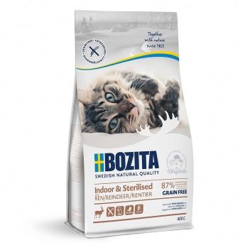Bozita Indoor & Sterilized Grain Free Reindeer (400 g)