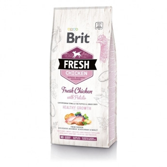 Brit Fresh Chick&Pot Puppy HG (2,5 kg)