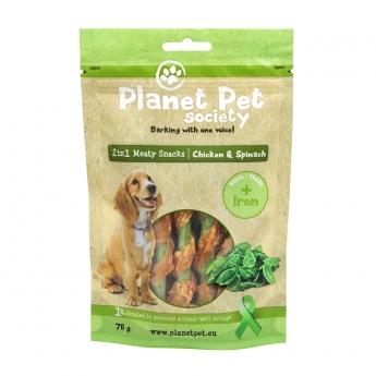Planet Pet Society 2in1 Treats kana-pinaatti