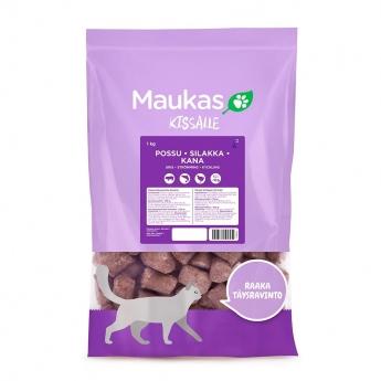 Maukas raaka täysravinto kissalle possu-kana-silakka 1 kg
