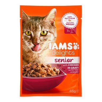 Iams Delights Senior Gravy 85 g