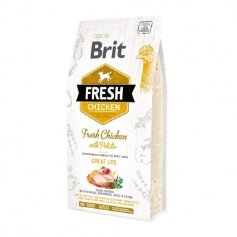 Brit Fresh Chick&Pot Adult GL (2,5 kg)
