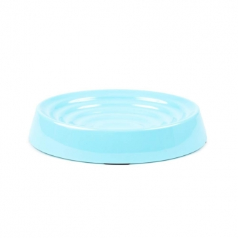 Little&Bigger Melamine Ripple Oval Aqua