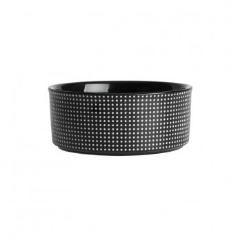 PetRageous Designs Dots keraaminen kuppi musta/valkoinen
