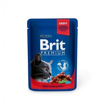 Brit Premium paloja kastikkeessa lihapata & herne