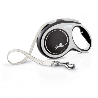 Flexi New Comfort Tape L 8 m (Musta)