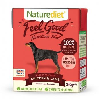 Naturediet Feel Good kana & lammas (390 g)