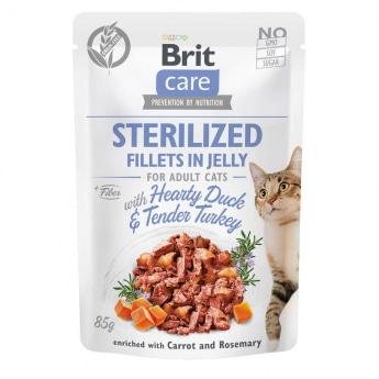 Brit Care Cat Jelly Sterilized ankka & kalkkunafillee hyytelössä 85 g