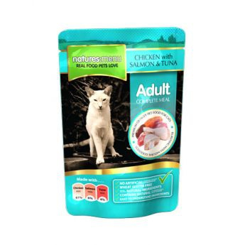 Natures:menu Cat Adult Chicken with Salmon & Tuna 100 g