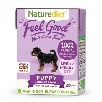 Naturediet Feel Good Puppy kana & lammas (200 g)