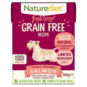 Naturediet Grain Free lohi (390 g)