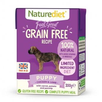 Naturediet Grain Free Puppy kana & lammas (200 g)