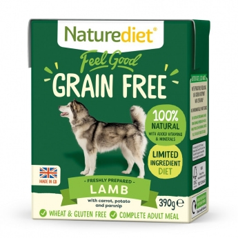 Naturediet Grain Free lammas (390 g)