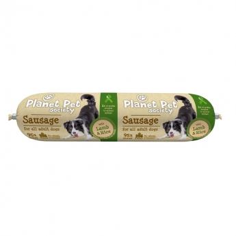 Planet Pet Sausage lammas-riisi UUSI 800g
