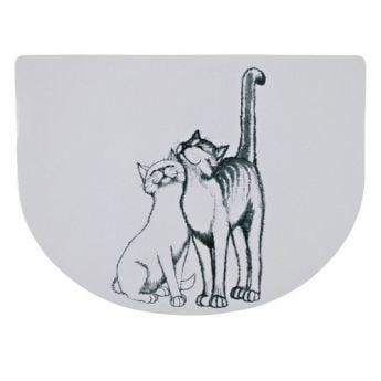 """Trixie kissan ruoka-alusta """"kaksi kissaa"""" (Muovi)"""