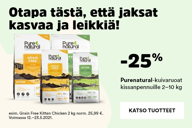 Purenatural-kuivaruoat kissanpennuille -25%