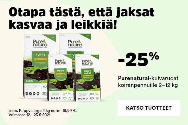 Purenatural-kuivaruoat koiranpennuille -25%
